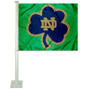Notre Dame Shamrock Car and Auto Flag