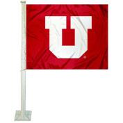 Utah Utes Car Flag