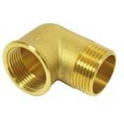 Elbow, 90° with internal and external thread 3.8cm brass