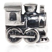 Artbeads Train Engine Travel Charm Antique 925 Sterling Silver Bead Fits on European Charm Bracelets