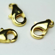 4pcs Jewellery findings Lobster Clasp,Gold Vermeil on 925 Sterling silver,10mm