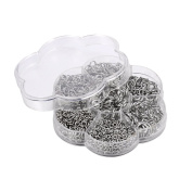 HooAMI 1 Box About 800pcs Silver Tone Open Jump Rings 4mm-10mm Diameter Jewellery Making Findings