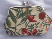 """Signare 03-Morning Garden """"Morning Garden"""" Coin Purse with Two Compartments, Tapestry"""