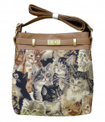 "Signare 2952-Cat ""Cat"" Shoulder Purse, Tapestry"