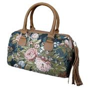 "Signare 3899-Blossom ""Blossom"" Fringed Zipper Purse, Tapestry"