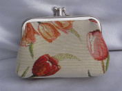 """Signare 03-Tulip """"Tulip"""" Coin Purse with Two Compartments, Tapestry"""