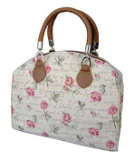 """Signare 4933-English Rose """"English Rose"""" Arched Purse, Tapestry"""
