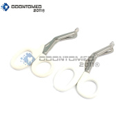 OdontoMed2011® 2 PCS PARAMEDIC UTILITY BANDAGE FIRST AID STAINLESS STEEL TRAUMA EMT EMS SHEARS SCISSORS 2.2m WHITE ODM