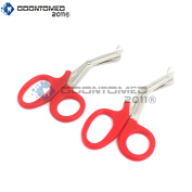 OdontoMed2011® 2 PCS PARAMEDIC UTILITY BANDAGE FIRST AID STAINLESS STEEL TRAUMA EMT EMS SHEARS SCISSORS 2.2m RED ODM