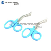OdontoMed2011® 2 PCS PARAMEDIC UTILITY BANDAGE FIRST AID STAINLESS STEEL TRAUMA EMT EMS SHEARS SCISSORS 2.2m TEAL ODM