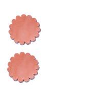 Set of 2 pcs Leather Rosette Conchos 2″
