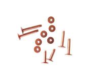 Assorted Copper Rivets & Burrs 12 Piece #9 Saddles tack repair