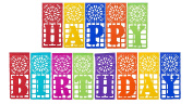 "Mexican TISSUE Papel Picado Banner ""HAPPY BIRTHDAY"" - Ideal for Mexican Theme Birthday Celebrations - Design and Colours as Pictured By Paper Full of Wishes …"