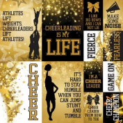 Cheerleading Cheer 12x12 Poster Stickers