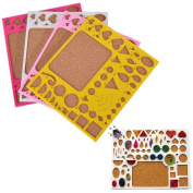 1 Pcs Paper Quilling Mould Mould Template Board,Circle Template Board, Quilling Kits Work Board,Colour Random by Crqes