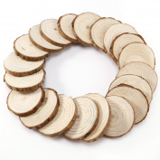 Charmed 4-5 cm unpainted Natural Round Wood Slices pieces