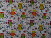 Owlivia by Mitzi Powers from Bernatex 100% Cotton Quilt Owl Fabric 2241 09 By the Yard