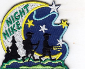 """""""NIGHT HIKE"""" - SPORTS - HIKING - OUTDOORS -IRON ON EMBROIDERED APPLIQUE PATCH"""