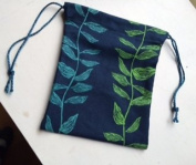 Drawstring bag ~ Handmade Large size ~ Ravenz Roost hand made item
