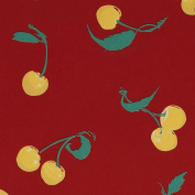 Designer Gift Wrap - Yellow Cherries on Red Wrapping Paper