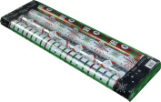 Kirkland Signature 4 Rolls of Christmas Wrap, Red/White/Green