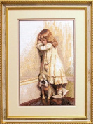 Embroidery Counted cross stitch kit Charivna mit #471 Best friend Girl Child 18.5x29 cm / 7.09x11.42 in