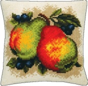 Embroidery Counted cross stitch kit Pillow Charivna mit #RT-157 Sweet pears Still life Summer 40x40 cm / 15.75x15.75 in
