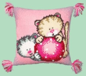 Embroidery Counted cross stitch kit Pillow Charivna mit #RT-102 Let's play Kittens 40x40 cm / 15.75x15.75 in