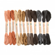 12 Valdani 6 Strand Floss Embroidery Thread As Time Goes By Set 2 10 Yd Skeins
