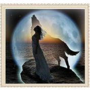 Mingo 5D DIY Diamond Painting Rhinestone Beauty and Wolf of Crystals Embroidery Kits Arts, Crafts & Sewing Cross Stitch