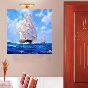 Mingo 5D DIY Diamond Painting Rhinestone Sailboat of Crystals Embroidery Kits Arts, Crafts & Sewing Cross Stitch