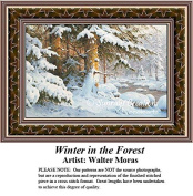 Winter Cross Stitch Patterns | Winter in the Forest