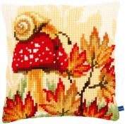 Autumn Scene Cushion Cross Stitch Kit-41cm x 41cm