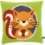 Squirrel Cushion Cross Stitch Kit-41cm x 41cm