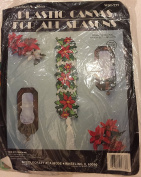 "Plastic Canvas for All Seasons ""Poinsettia Bell Pull"""