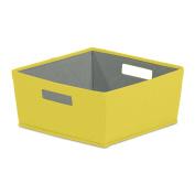 Modular Storage 32cm L x 32cm W x 15cm H Half Fabric Bin in Samoan Sun, Designed to Fit Nicely in the b+in Plastic Storage Cube