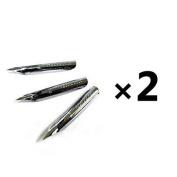 2 X Nikko Manga Pen Nib N-Gpen 3-Pics Set