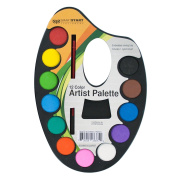 Kole Imports HW669 HW669 Watercolour Paint Artist Palette with Mixing Tray