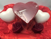 Valentine's Day Hearts and Roses Candle & Soaps Gift Basket