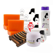 Kojic Acid Soap. Kojie San Whitening Soap COMPLETE KIT with Amazon's #1 Soap Dish