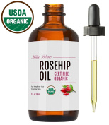 Rosehip Oil (30ml), USDA Certified Organic, 100% Pure & Natural, Cold Pressed, Unrefined, Essential Oil, For Face, Nails, Hair, and Skin. Therapeutic AAA+ Grade. 1-Year Guarantee from Kate Blanc.