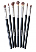 SWAGGERS Makeup Eye Brush Set - Eyeshadow Eyeliner Blending Crease Kit - Best Choice 7 Essential Makeup Brushes - Pencil, Shader, Tapered, Definer - Last Longer, Apply Better Makeup