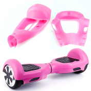 Silicone Rubber Protective Skin Case Cover For 17cm 2 Wheels Hoverboard Scooter Pink