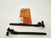 TRADITIONAL BIKE PUMP PEGS/CLIPS FITS MOST BIKES TOURIST RACERS ETC  .