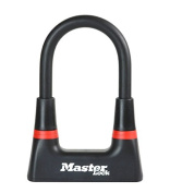 Master Lock 14 mm Premium Security Mini D lock Gold Sold Secure 150 mm x 80 mm - Black