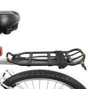 BV Bike Black Double Elastic Strap with Silver Hooks, Straps Around Items on Rack & Around Most Carriers
