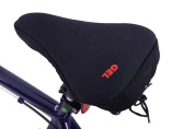 Womens bike seat soft gel extreme comfort padded spin class saddle cushion cover black