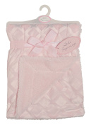 Cudlie! Double Sided Infant Pink Diamond Emboss Blanket