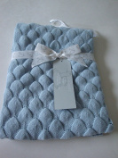 Peacock Alley Blue Knitted 100% Cotton Baby Blanket