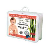 Waterproof Premium Organic Crib Mattress Protector Ultra soft Bamboo quilted cover by Rinaldo Bros. LLC